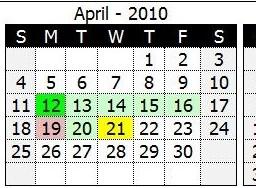 Custom fiscal year calendar (CFlex)