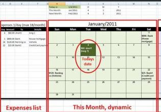 Expenses calendar, FaCal